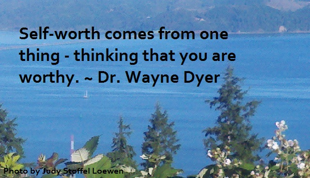 Self-worth comes from one thing