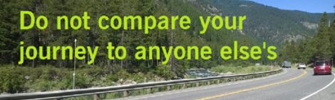 Do not compare your journey to someone elses's
