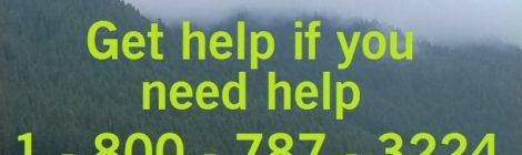 Get help if you need help!