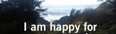 I am happy for no reason