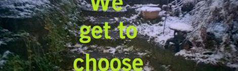 We get to choose