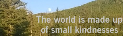 The world is made up of small kindnesses