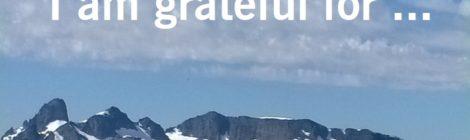I am grateful for ...