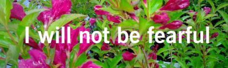 I will not be fearful