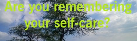 Are you remembering your self-care?