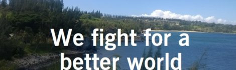 We fight for a better world