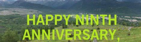 HAPPY NINTH ANNIVERSARY, DAILY BLISS!